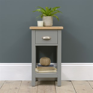 Simply Cotswold Storm Grey Petite 1 Drawer Bedside