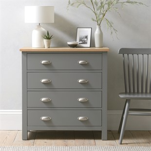 Simply Cotswold Storm Grey 4 Drawer Chest