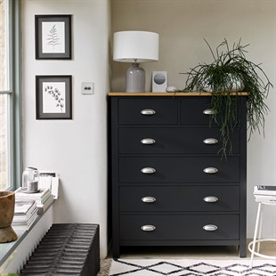 Simply Cotswold Charcoal 2+4 Chest of Drawers