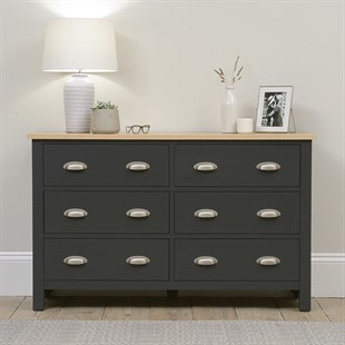 Simply Cotswold Charcoal 3+3 Chest of Drawers
