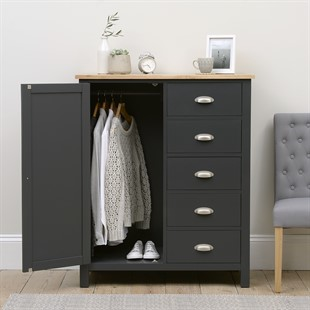Simply Cotswold Charcoal Combi Wardrobe