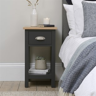 Simply Cotswold Charcoal One Drawer Nightstand