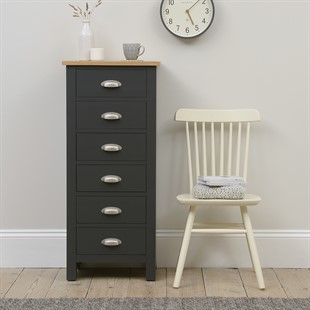 Simply Cotswold Charcoal 6 Drawer Tall Chest