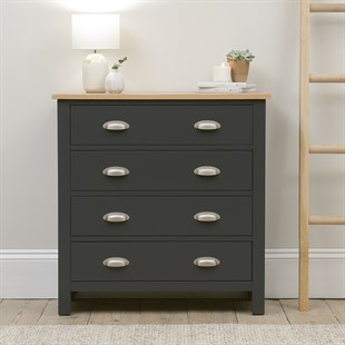 Simply Cotswold Charcoal 4 Drawer Chest