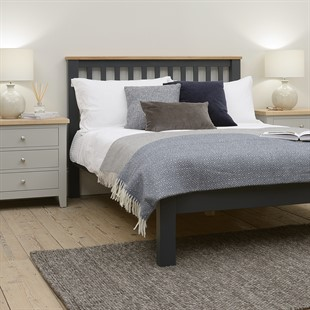 """Simply Cotswold Charcoal 4ft 6"""" Double Bed"""