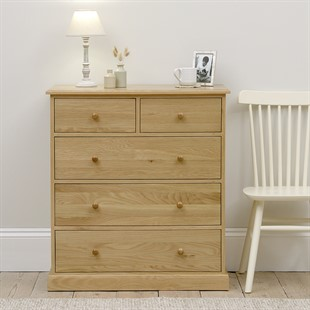 Appleby Oak 2 Over 3 Chest of Drawers