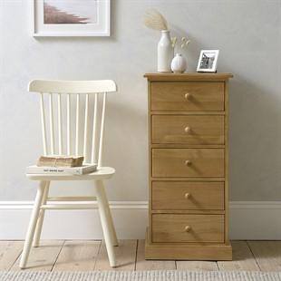 Appleby Oak 5 Drawer Narrow Chest