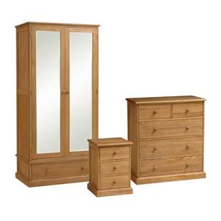 Appleby Oak Double Wardrobe Bedroom Set