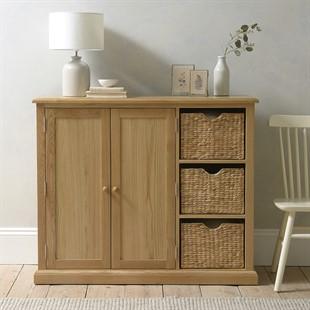 Appleby Oak Extra Large Shoe Storage Cupboard