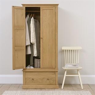 Appleby Oak Narrow Double Wardrobe