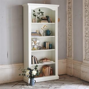 Burford Soft White Large Bookcase
