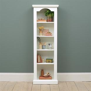 Burford Soft White Tall Slim Bookcase