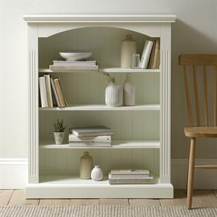 Burford Soft White Wide Bookcase