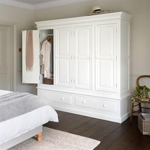 Burford Soft White Quad Wardrobe