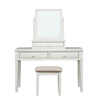 Burford Soft White Console Dressing Table Set
