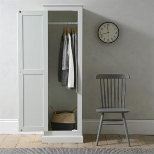 Burford Soft White Single Wardrobe