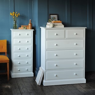 Burford Warm White 2+4 Chest of Drawers