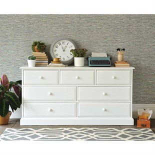 Burford Warm White 3 Over 4 Chest of Drawers