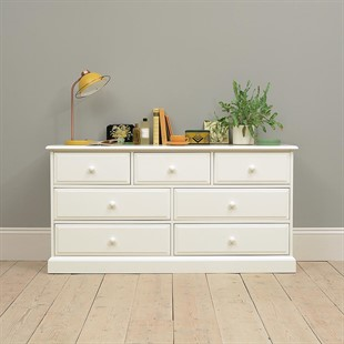 Burford Soft White 3 Over 4 Chest of Drawers