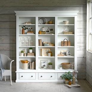 Burford Soft White Grand Bookcase