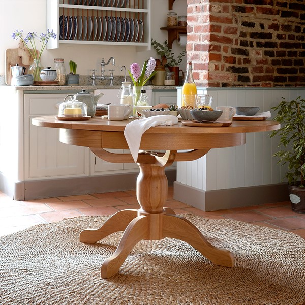 Peachy Light Oak110 145Cm Round Ext Dining Table Complete Home Design Collection Lindsey Bellcom