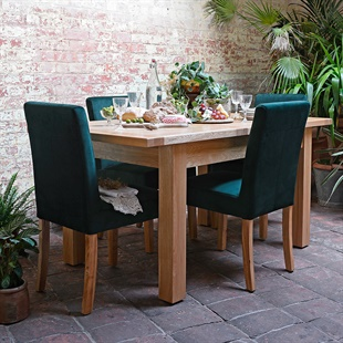 Light Oak 132-162-192cm Ext. Dining Table