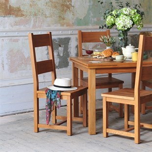 Light Oak Ladderback Wooden Seat