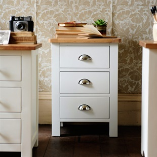 Portland Grey 3 Drawer Bedside