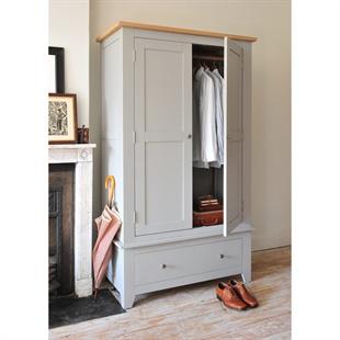 Chester Dove Grey Double Wardrobe