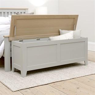 Chester Dove Grey Wide Blanket Box
