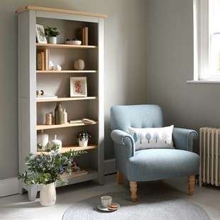 Chester Dove Grey Large Bookcase