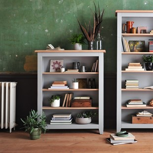 Chester Dove Grey Medium Bookcase