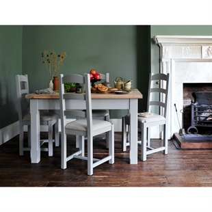 Chester Dove Grey 132-162-192cm Ext. Dining Table
