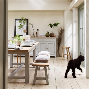 Chester Dove Grey 180-220-260cm Ext. Dining Table