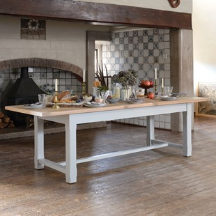 Chester Dove Grey 220-265-310cm Ext. Dining Table