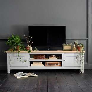 """Chester Dove Grey Low Wide TV Unit - up to 80"""""""
