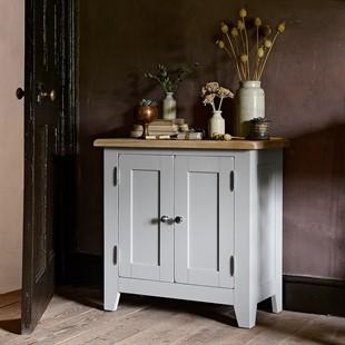 Chester Dove Grey Small Cupboard