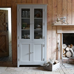 Chester Dove Grey Display Cabinet