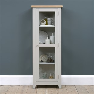 Chester Dove Grey Glass Display Cabinet