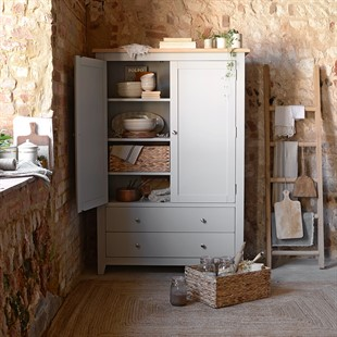 Chester Dove Grey Grand Storage Cupboard