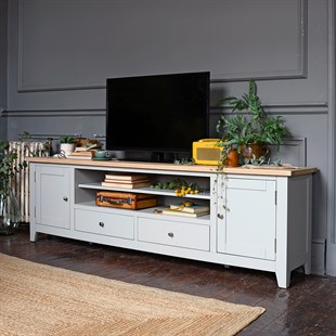 Chester Dove Grey Extra Large TV Stand - Up to ''99