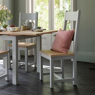 Chester Dove Grey Wooden Seat Ladderback Chair