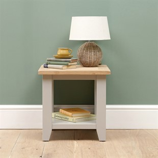 Chester Dove Grey Lamp Table