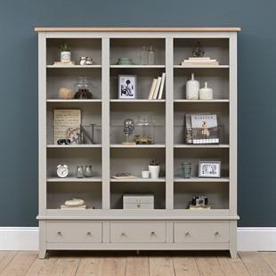 Chester Dove Grey Grand Bookcase