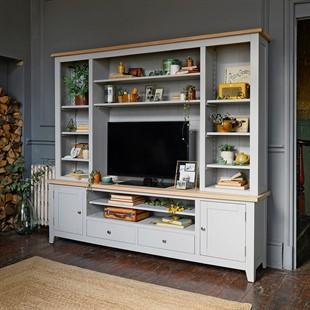 Chester Dove Grey TV and Media Storage Unit