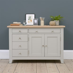 Chester Dove Grey Hidden Desk with Drawers