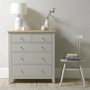 Chester Dove Grey 2+3 Chest of Drawers