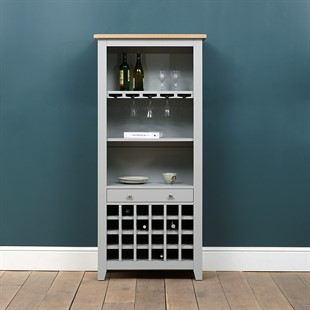 Chester Dove Grey Drinks Cabinet