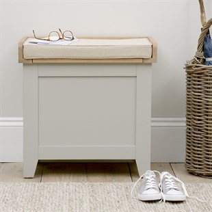 Chester Dove Grey Small Shoe Storage Trunk Bench