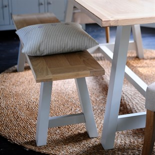 Chester Dove Grey Mid-Sized Trestle Bench